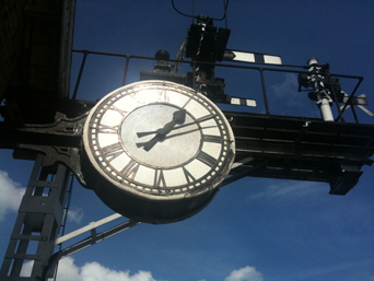 Clock at Grosmont Station Photo