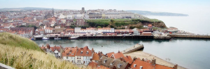View of Whitby's West Cliff Photo