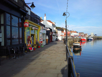 Shops along the Harbour in Whitby Photo
