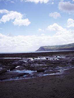 Rocky shore at Robin Hoods Bay Photo