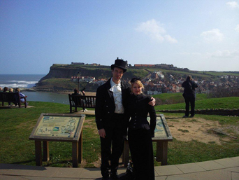 Couple at Whitby Goth Weekend Photo
